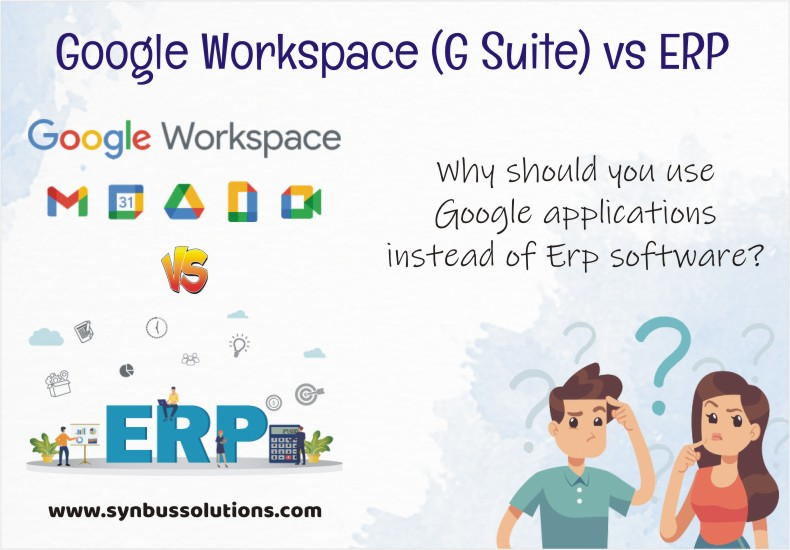 Reasons to use Google applications instead of ERP Software